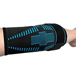 Elbow Brace Compression Support Sleeve for Tendonitis, Tennis Elbow, & Golf Elbow Treatment – Reduce Joint Pain (Large)