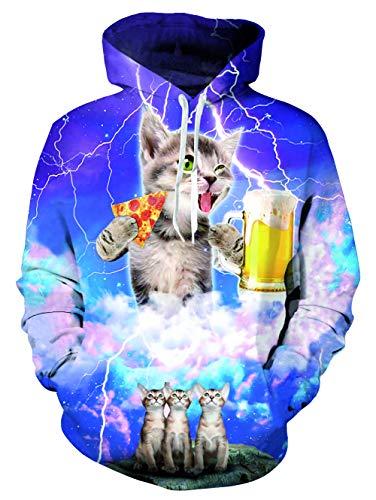 Newi 4 Star Impression Veste Unisexe L Sweatshirt Poches 3d S Capuche À X Star Manches wolf Longues r1rSnqx
