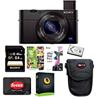 Sony DSC-RX100M III Cyber-shot Digital Camera (Black) with 64GB Deluxe Accessory Bundle