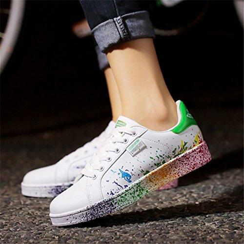 da Ginnastica Unisex Scarpe Passeggio Sportive Basse ZIITOP Casual Sneakers Uomo Interior all'Aperto Verde Fitness Scarpe da Pxwttc746q