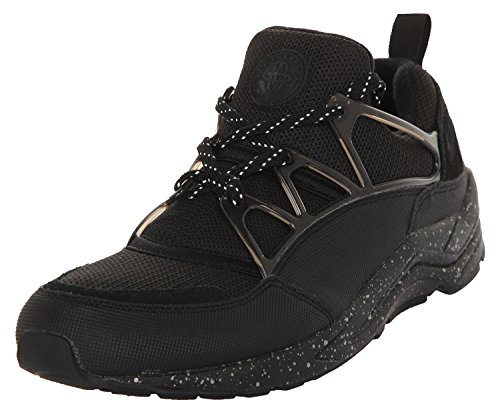 Nike Men Air Huarache Light PRM Running Shoes, Black Black (Black / Black-mtlc Pewter)