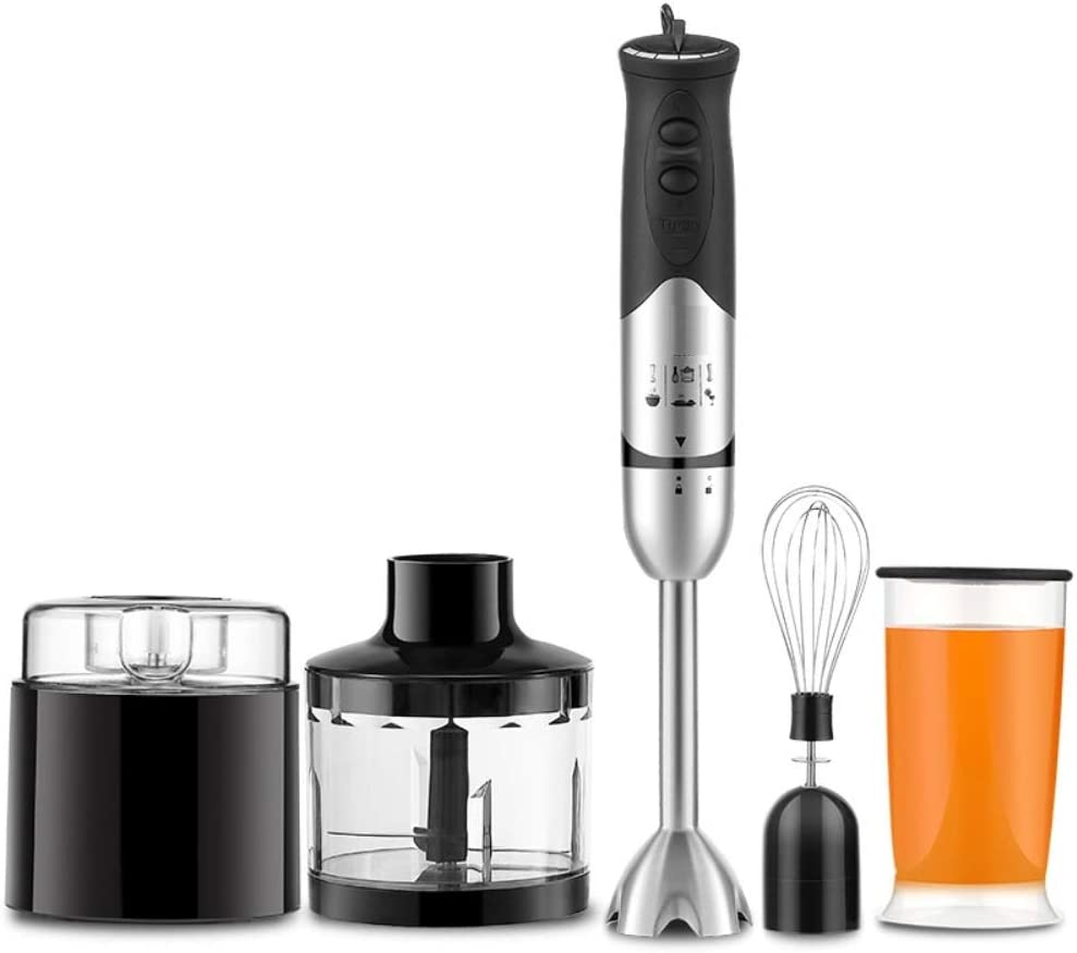 Multifunctional Hand Immersion Blender, Stainless Steel Stick Blender, Titanium Plated Blade, Whisk Attachment, BPA-Free
