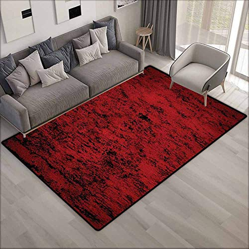 Classroom Rug,Red and Black Pillow Sham,All Season Universal,5'6