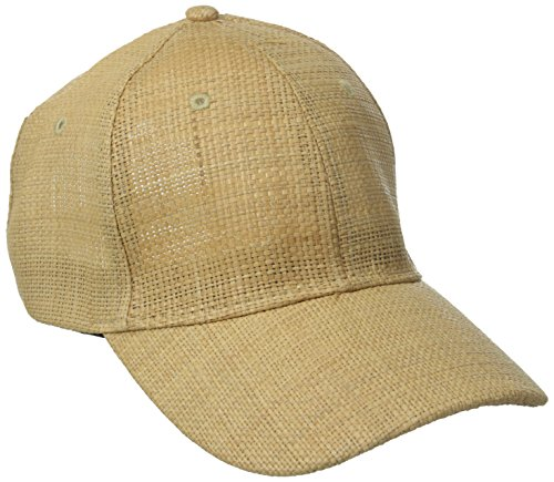 San Diego Hat Company Women's Woven Raffia Ball Cap, Natural, One (Raffia Woven Hat)