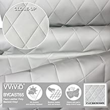 """VViViD Bycast65 White Quilted 4"""" x 6"""" Diamond Pattern Padded Marine Vinyl Roll (5ft x 54"""")"""