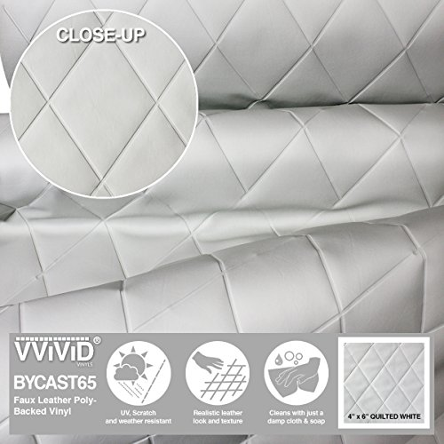 VViViD Bycast65 White Quilted 4