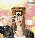 DolliBu Brown Grizzly Bear Plush Hat - Super Soft
