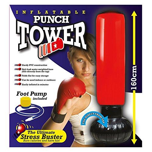 Punch Tower Torre de boxeo saco de boxeo inflable de 160cm formación Keep Fit estrés Buster DJ2GO LTD L-44072