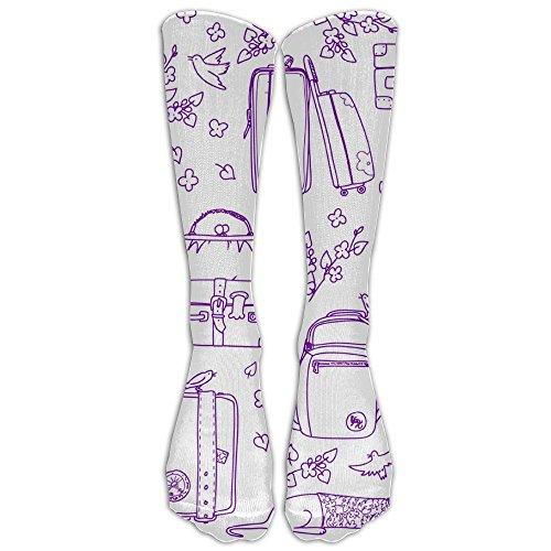 Unisex Unique Design Suitcases Socks 78% Cotton / 20% Nylon / 2% (Non Skid Display Case Liner)