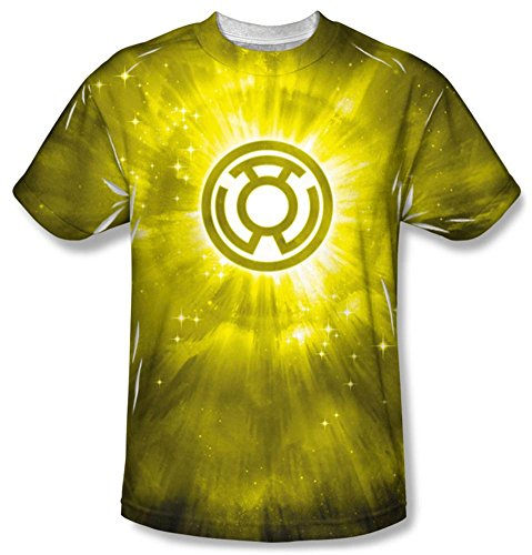 Energy -- Yellow Lantern All-Over Front Print Sports Fabric T-Shirt, (Yellow Lantern T-shirt)