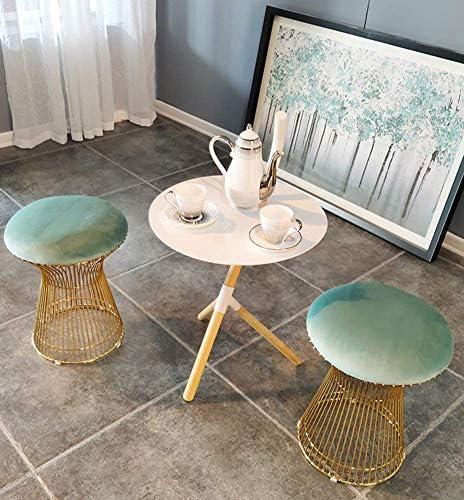 CYQ Pouf Moderne de Tabouret, Tabouret créatif tapissé, Pouf de Tabouret de Table de Faux Cuir de Banc de canapé pour Le canapé à la Maison A