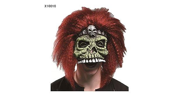 Máscara YN Halloween mueca Media Cara Adulto Cara Completa látex tocados Miedo Hombre Lobo Matar a Dios Demonio (Color : X10010): Amazon.es: Hogar
