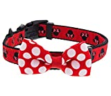 Disney Parks Minnie Mouse Polka Dot Bow Dog Pet Collar Medium