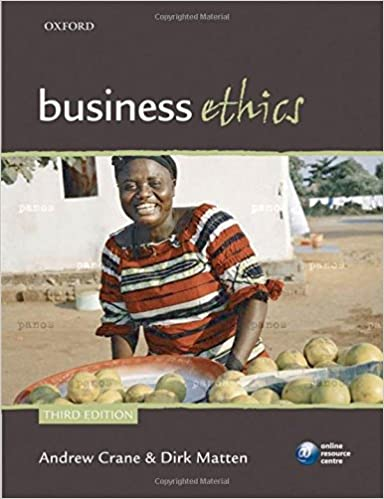 Business Ethics: Managing corporate citizenship and sustainability