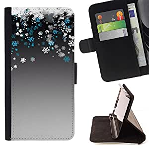 For LG G4 Case , Blanco como la nieve del invierno del copo trullo- la tarjeta de Crédito Slots PU Funda de cuero Monedero caso cubierta de piel