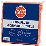303 Products 30901 16x16 Ultra Plush Microfiber Towels , 3-Pack