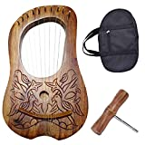 Traditional Irish Lyre Harp 10 Metal String Free