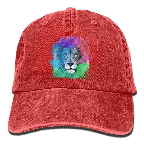 Colorful Denim Female Adjustable Hat hanbaozhou Lion Baseball Gorras Classic béisbol Hat WPSqqIE