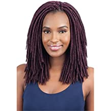 2X MEDIUM SOFT FAUX LOC 10 (1B Off Black) - Model Model Glance Synthetic Crochet Briad Dread Locks by At-A-Glance