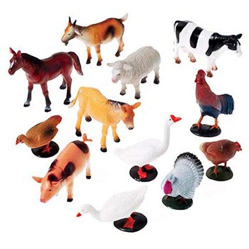 US Toy Company 2386 Farm Animals, 12 piece