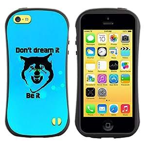 Suave TPU Caso Carcasa de Caucho Funda para Apple Iphone 5C / Don'T Dream It / STRONG