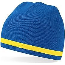 Berretto Blu Giallo Team Calcio Svedese Colori Lana - Taglia Unica - Sverige