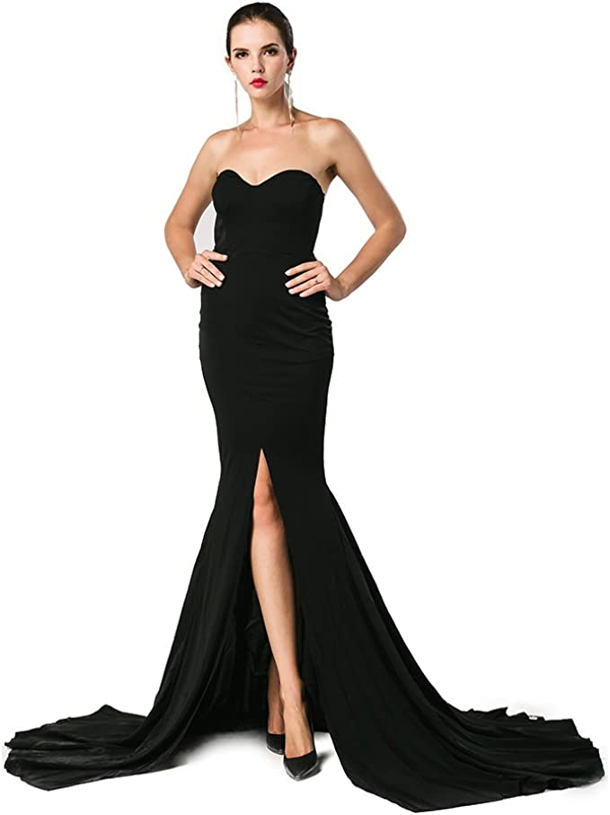 Strapless Evening Maxi Dress