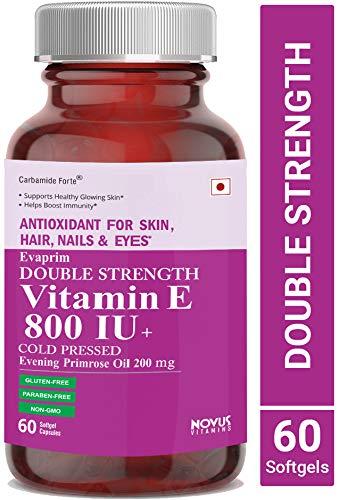 8346f074f52 Buy Carbamide Forte Vitamin E 800 IU Oil + Evening Primrose Oil 200mg - 60  Capsules Online at Low Prices in India - Amazon.in