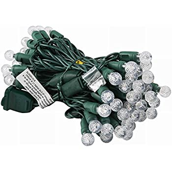 [Commercial Quality]G12 Led Christmas Lights Outdoor Warm White,17Ft 50 Outside Mini Globe Ball String Lights for Home Bedroom Patio Garden Wedding Holiday Party Indoor Mood Lighting-Uzexon