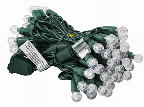 UZEXON Commercial G12 Led Christmas Lights Outdoor Indoor Warm White Tree Lights,17Ft 50 Mini Globe Ball String Lights for Home Bedroom Patio Garden Wedding Holiday Party Halloween Xmas Mood Lighting