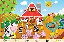 White Mountain Puzzles Farm Friends - 24Piece Floor Puzzle