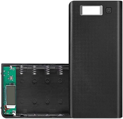 DEtrade DIY USB Mobile Power Bank Cargador Fall Pack 8 Slots 18650 Batteriehalter para teléfono, Negro: Amazon.es: Deportes y aire libre