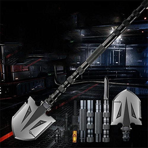 ANTARCTICA Military Folding Shovel Multitool Compact Backpacking Tactical Entrenching Tool for Hunting, Camping, Hiking, Fishing (Silver) by ANTARCTICA (Image #5)