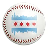 Nvthenpiaoliang Chicago City Flag Design Soft Standard Practice Ball Baseball Game Ball