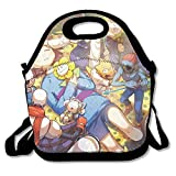 Undertale Game Lunch Box Bag For Kids And Adult,lunch Tote Lunch Holder With Adjustable Strap For Men Women Boys Girls,This Design For Portable, Oblique Cross,double Shoulder