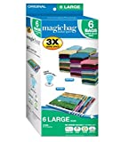 MagicBag Instant Space Super Value Pack: 6 Large Space Saver Vacuum Storage Bags(21.65''x33.50'')