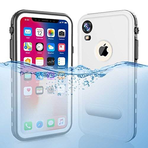 iPhone XR Waterproof Case, Dooge Shockproof Dirtproof Snowproof Rain Proof Heavy Duty Full Protection Rugged IP68 Certified Waterproof Case with Kickstand Screen Protector for Apple iPhone XR - Submersible X Gen