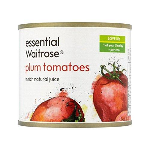 Italian Plum Tomatoes essential Waitrose 230g - Pack of 6