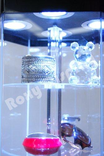 ( JW-AD-108BK) ROXYDISPLAY™ Rotatable Hexagon Acrylic Display Tower Case