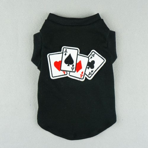 Fitwarm® Stylish Pet Poker Shirts for Dog Tank Vest T-shirts Soft Cotton Cat Clothes, X-small
