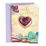 "Share your respect and love for your mother this year with this birthday card featuring a watercolor heart with flowers in shades of blue, pink, and purple. The message on the front of the card reads, ""Felicidades, Mamá."" Open the card to rev..."