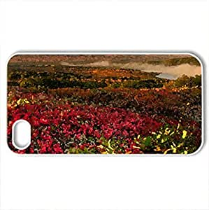 mountain scene - Case Cover for iPhone 4 and 4s (Mountains Series, Watercolor style, White)