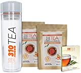 Detox Tea Cleanse and Fight Bloating – 310 Tea Fights Bloating and Appetite Suppressant, Increases Metabolism   Organic Green Tea with Yerba Mate, Guarana and Ginger 2 Pack of 28 Servings