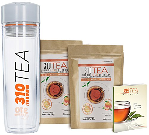 Detox Tea Cleanse and Fight Bloating - 310 Tea Fights Bloating and Appetite Suppressant, Increases Metabolism   Organic Green Tea with Yerba Mate, Guarana and Ginger 2 Pack of 28 (Guarana Green Tea)