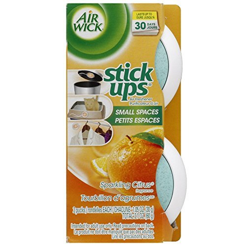 Air Wick Stick-Ups Air Freshener, Sparkling Citrus, 2 Count (Pack of (Wizard Air)