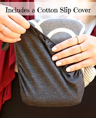 Slip-on Arm Nursing Pillow & Plush w/ Slip-Cover & Carry Bag 8.5 x 7 x 2.75 in by Friendly Deer (Image #8)