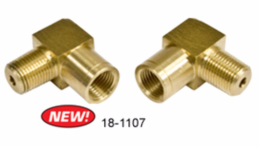 Empi 18-1107 90 Deg Male 1//8 Npt to Female 10Mm X 1.0 Bubble Flare Pair for Bug