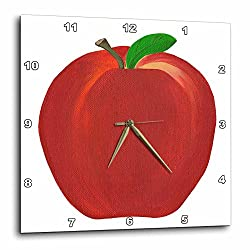 3dRose Red Apple - Wall Clock, 10 by 10-Inch (dpp_12683_1)