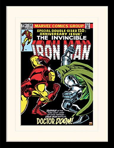 Marvel Iron Man Dr. Doom Framed & Mounted Print - Overall cm Mount
