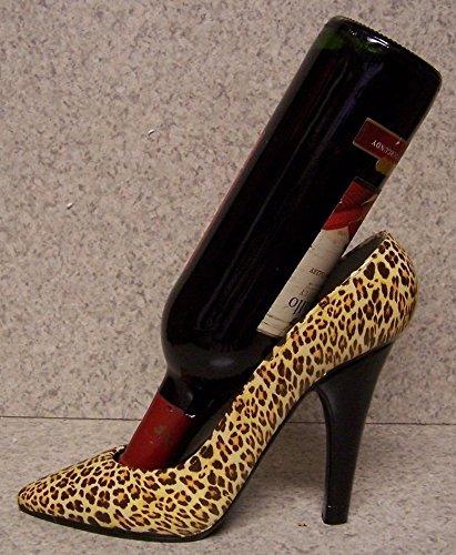 High Heel Shoe Wine Bottle Holder- Leopard
